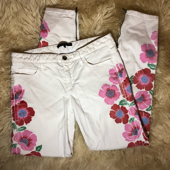 Theory Denim - THEORY White Patterned Skinny Jeans Size 4